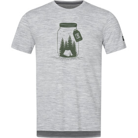 super.natural Graphic T-shirt Heren, ash melange/millitary go camping